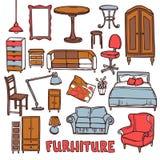 Insieme domestico della mobilia Fotografia Stock Libera da Diritti
