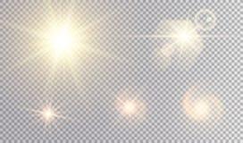 Insieme dorato di progettazione delle stelle Fotografia Stock Libera da Diritti