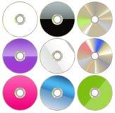 Insieme DVD/del CD Fotografia Stock Libera da Diritti