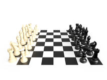 Insieme e bordo di scacchi Fotografia Stock Libera da Diritti