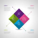 Insieme e Infographics dell'icona Fotografia Stock