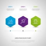 Insieme e Infographics dell'icona Immagini Stock