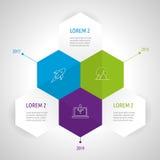 Insieme e Infographics dell'icona Fotografie Stock