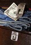 Insieme e soldi del maschio Fotografia Stock