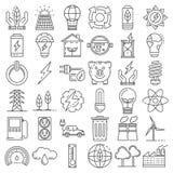 Insieme economizzatore d'energia dell'icona, stile del profilo royalty illustrazione gratis