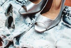 Insieme ed accessori dell'abbigliamento delle donne Fotografia Stock