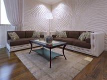 Insieme elegante della mobilia del salone Fotografie Stock Libere da Diritti