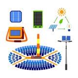Insieme a energia solare di vettore Fotografia Stock Libera da Diritti