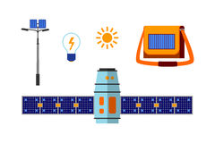Insieme a energia solare di vettore Fotografie Stock Libere da Diritti