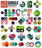 Insieme enorme dei modelli infographic #2 del cerchio Fotografie Stock