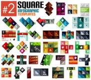 Insieme enorme dei modelli infographic quadrati #2 royalty illustrazione gratis
