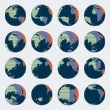 Insieme enorme del globo comico di stile con i colori luminosi per le illustrazioni politiche illustrazione vettoriale