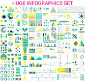 Insieme enorme di Infographics royalty illustrazione gratis