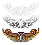 Insieme etnico del tatuaggio delle ali Fotografia Stock