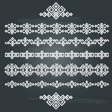 Insieme etnico di progettazione geometrica Fotografie Stock