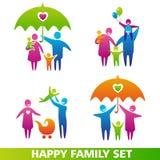 Insieme felice della famiglia Fotografie Stock Libere da Diritti