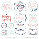 Insieme felice della primavera fotografie stock libere da diritti