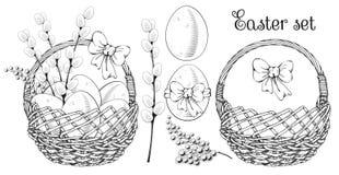 Insieme felice di saluto di Pasqua illustrazione di stock
