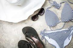 Insieme femminile del costume da bagno di estate Fotografia Stock