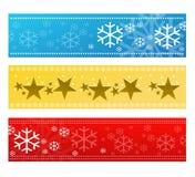 Insieme festivo della bandiera Immagine Stock