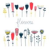 Insieme floreale di vettore del fiore della molla Fotografia Stock Libera da Diritti