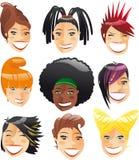 Insieme fresco di taglio di capelli Immagini Stock Libere da Diritti