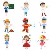 Insieme futuro di professione dei bambini illustrazione vettoriale