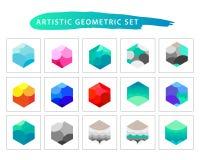 Insieme geometrico artistico di vettore Immagine Stock