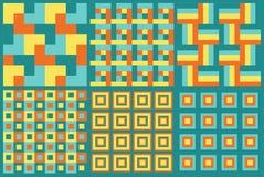 Insieme geometrico astratto senza cuciture del modello Fotografia Stock Libera da Diritti