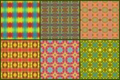 Insieme geometrico astratto senza cuciture del modello Fotografie Stock