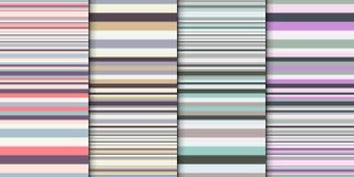 Insieme geometrico del contesto Fondo astratto di vettore con la larghezza differente delle bande variopinte Bande gradualmente c Fotografia Stock