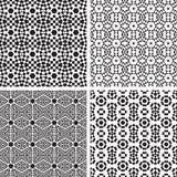 Insieme geometrico del modello degli ornamenti. Immagine Stock