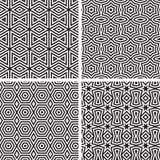 Insieme geometrico del modello degli ornamenti. Fotografia Stock