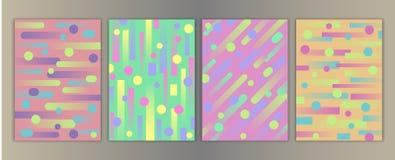 Insieme geometrico della copertura illustrazione vettoriale