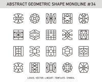 Insieme geometrico di forma Fotografia Stock