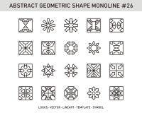 Insieme geometrico di forma dell'elemento Fotografia Stock