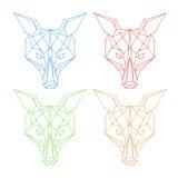 Insieme geometrico di logo della volpe Fotografie Stock Libere da Diritti