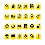 Insieme giallo dell'icona Immagine Stock Libera da Diritti