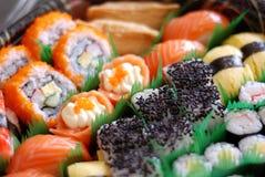 Insieme giapponese dei sushi immagini stock