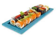 Insieme giapponese dei sushi dei frutti di mare Fotografia Stock Libera da Diritti