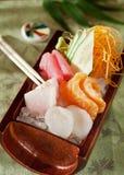 Insieme giapponese dei sushi del sashimi Fotografia Stock Libera da Diritti