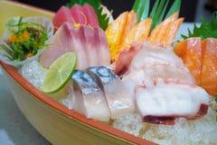 Insieme giapponese del sashimi Immagini Stock Libere da Diritti