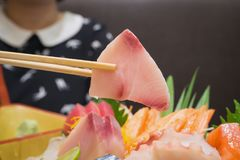 Insieme giapponese del sashimi Immagine Stock Libera da Diritti
