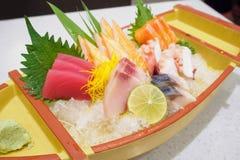 Insieme giapponese del sashimi Fotografia Stock