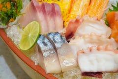 Insieme giapponese del sashimi Immagini Stock