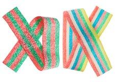 Insieme gommoso multicolore della fascia della caramella (liquirizia) Immagini Stock Libere da Diritti