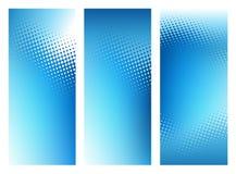 Insieme grafico blu astratto della bandiera della priorità bassa Fotografia Stock Libera da Diritti