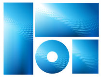 Insieme grafico blu luminoso astratto della priorità bassa Fotografia Stock