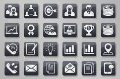 Insieme grigio del bottone di affari illustrazione vettoriale