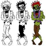 Insieme guasto ambulante delle zombie Fotografia Stock